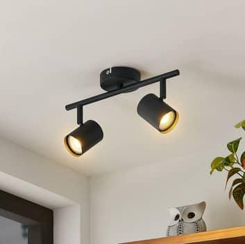 ELC Binola LED-Strahler in Schwarz, zweiflammig