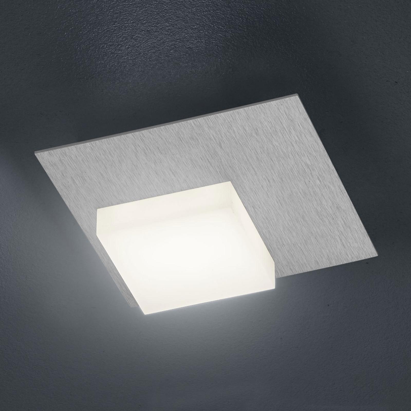 BANKAMP Cube plafonnier LED 8W, argenté