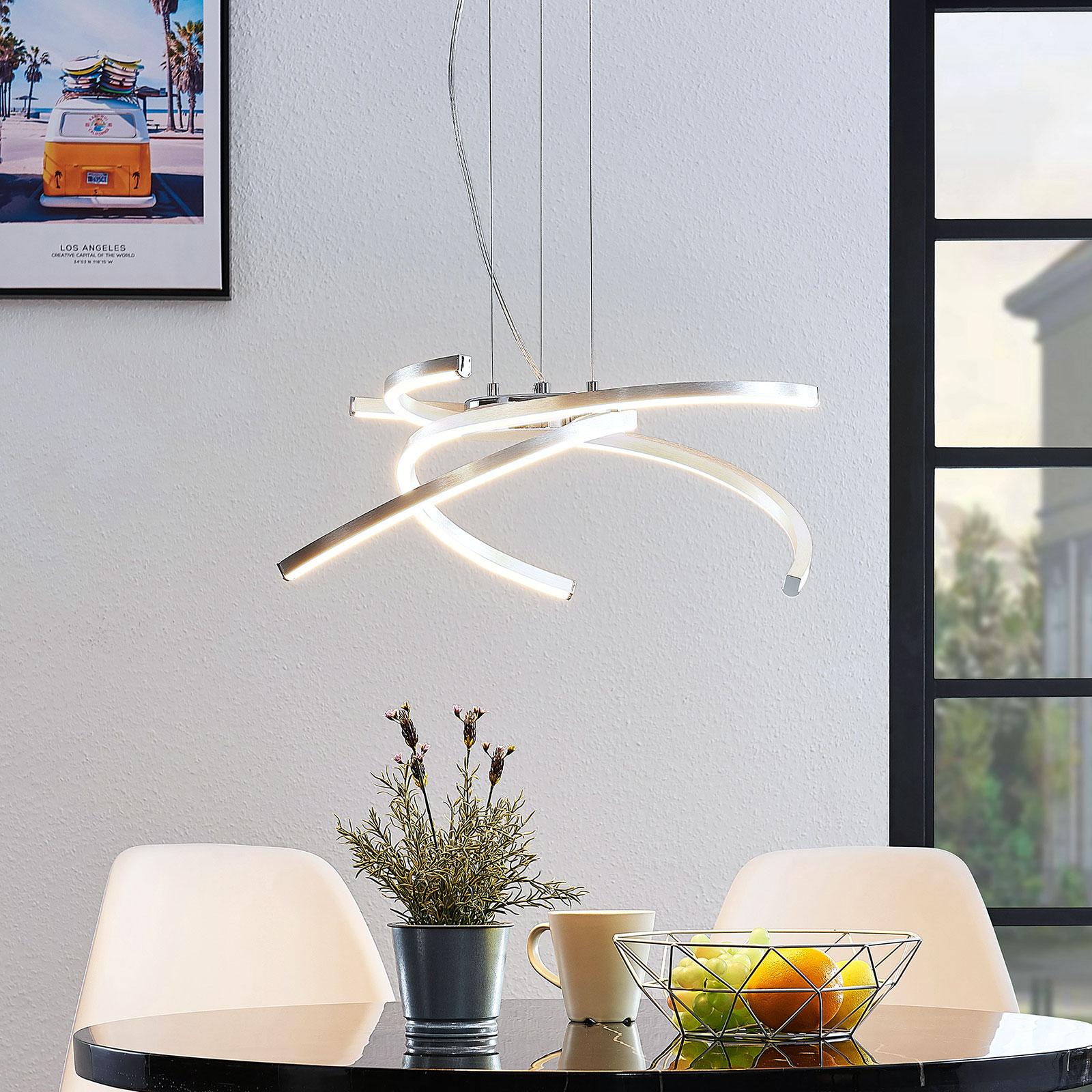 Lindby Katris LED-Hängeleuchte, 58 cm, alu