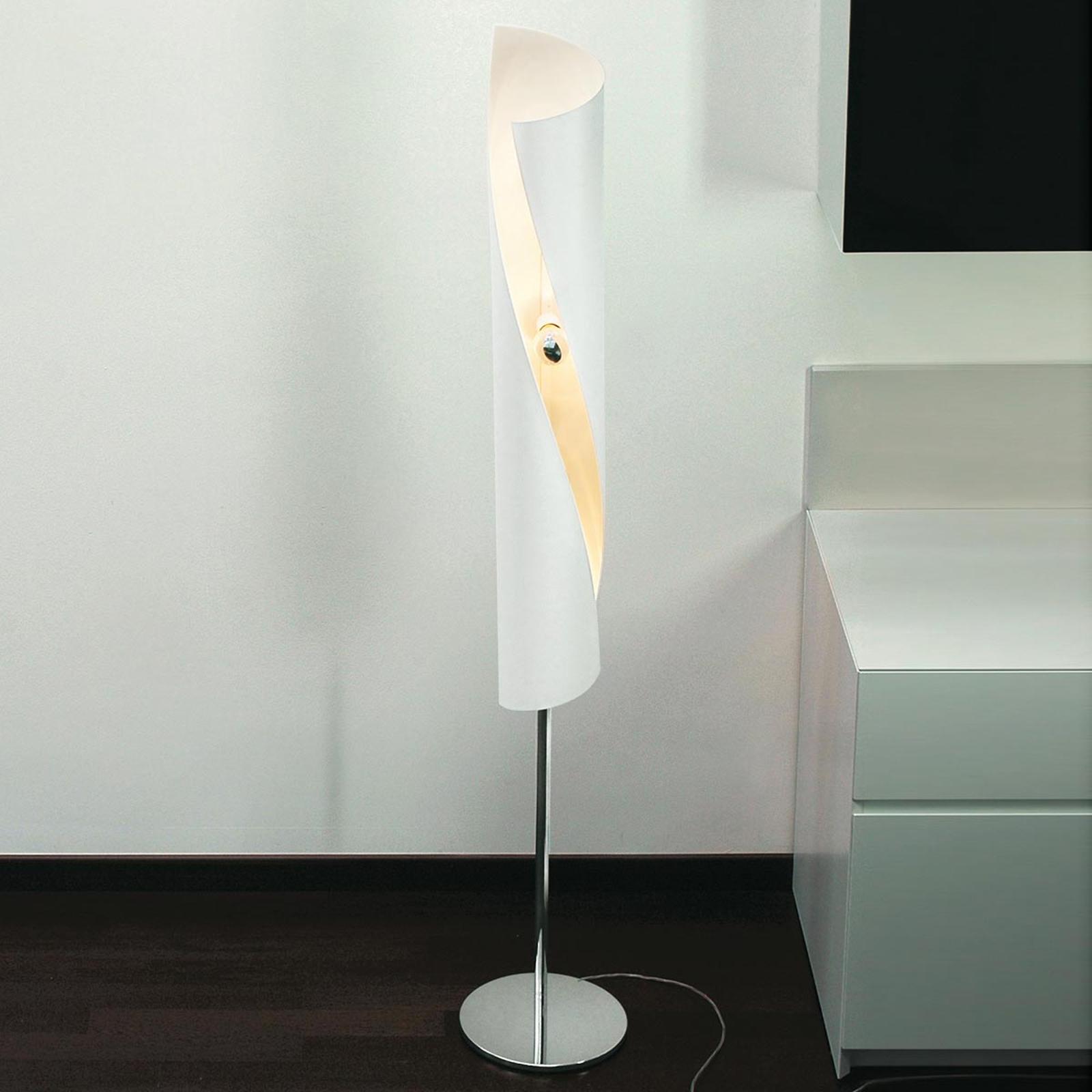 Designer-golvlampa Hué i vitt