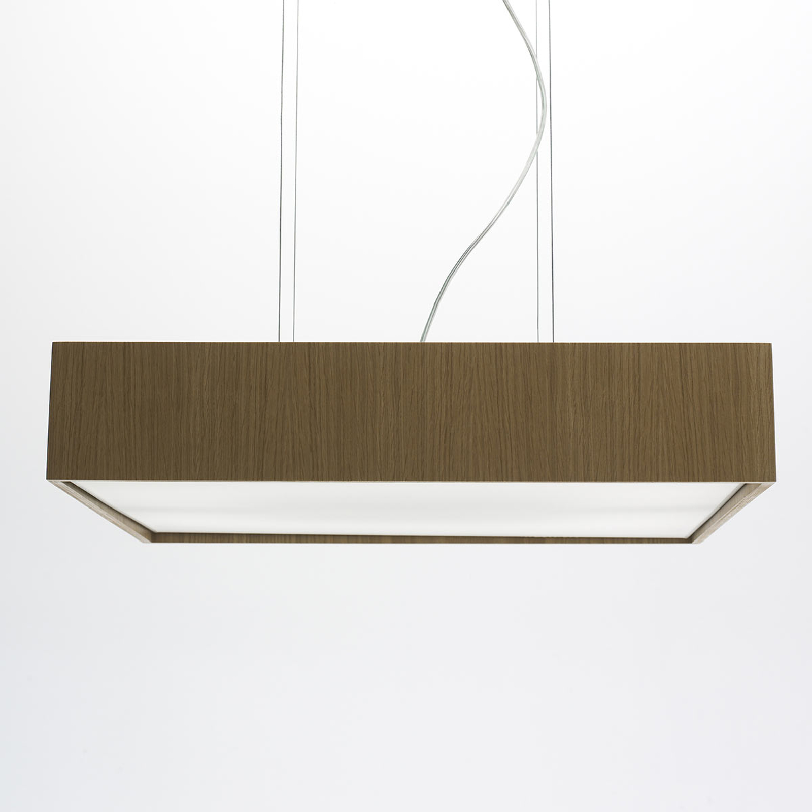 Lampa wisząca Quadrat S z LED 60x60, dębowa