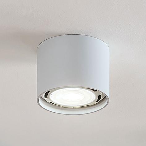 LED-takspotlight Mabel, rund, vit