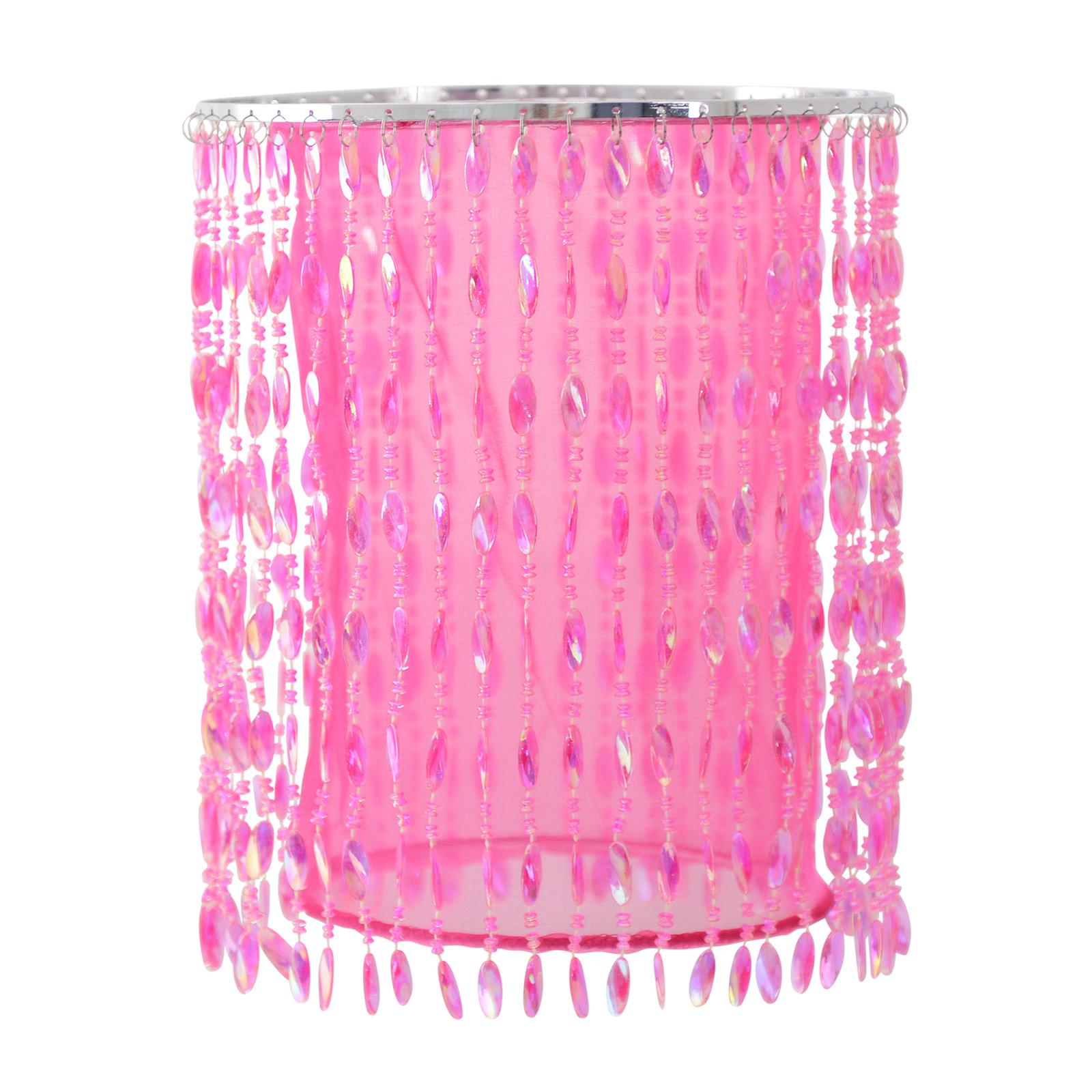 Hanglamp 6008419 met decoratiestenen, pink