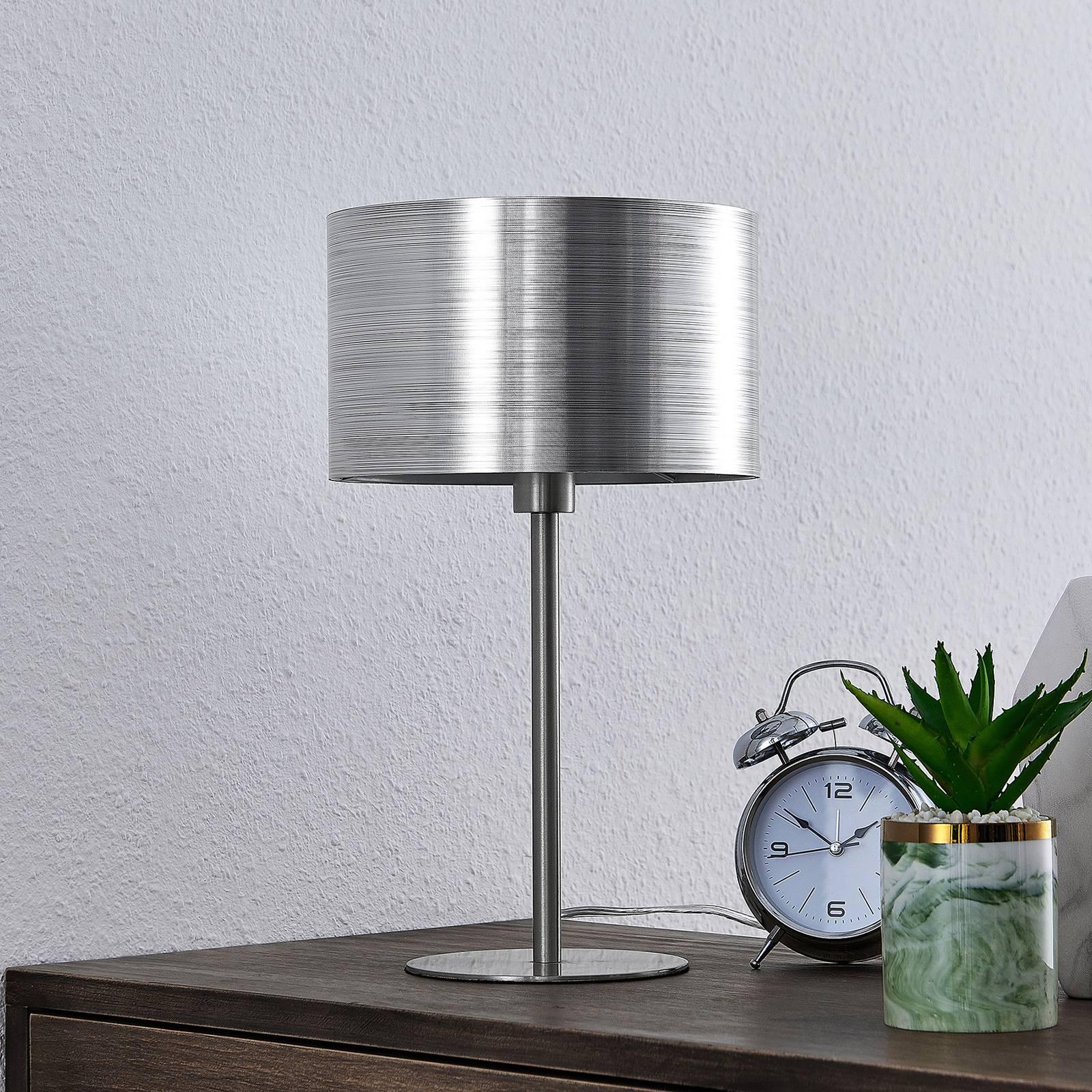Lindby Dexin Tischleuchte, silber metallic