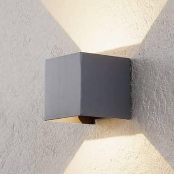 LED-utomhusvägglampa Cube antracit