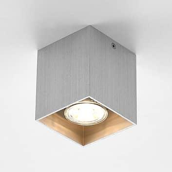 ELC Efey plafondlamp, GU10, hoekig, zilver