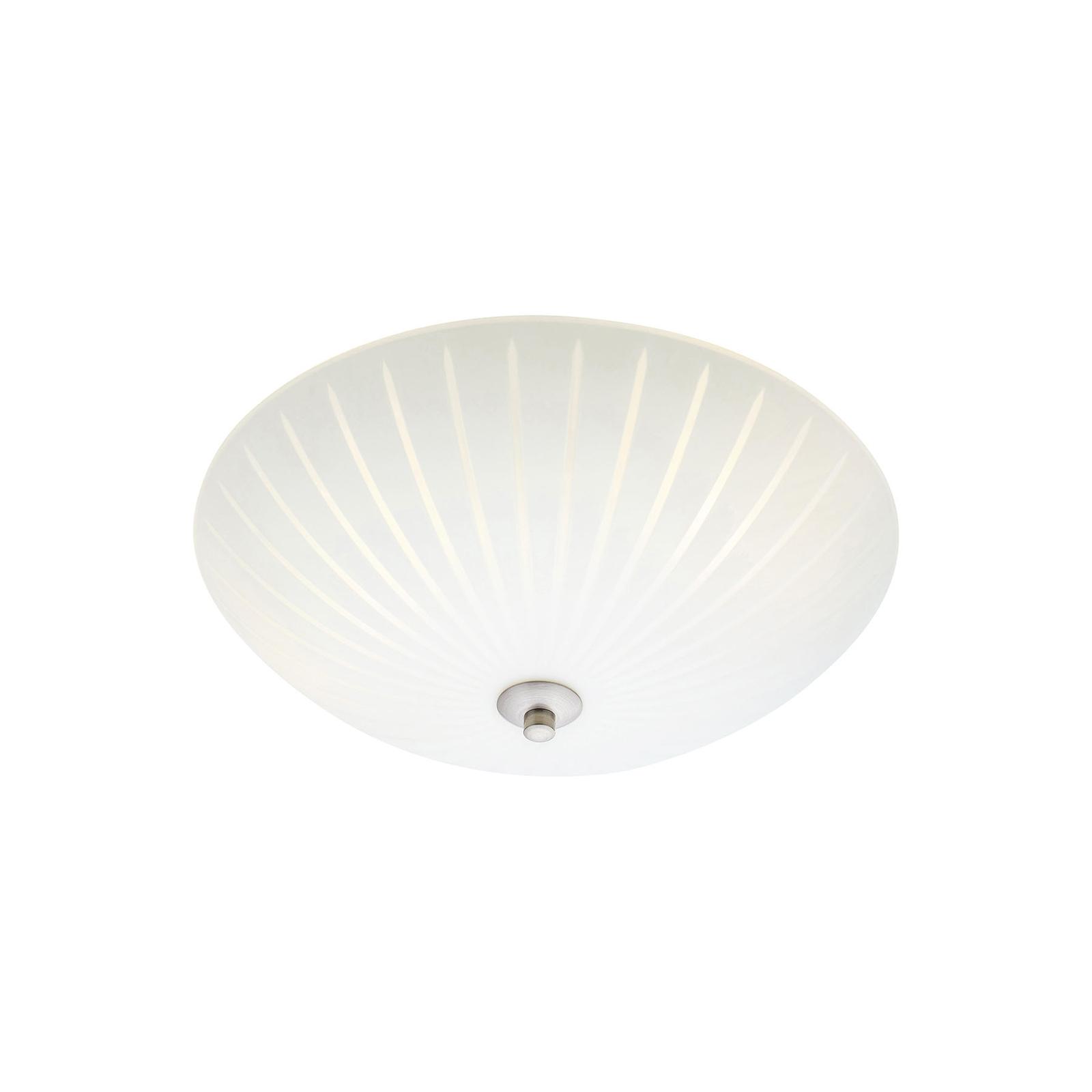Glass-taklampe Cut, Ø 35 cm