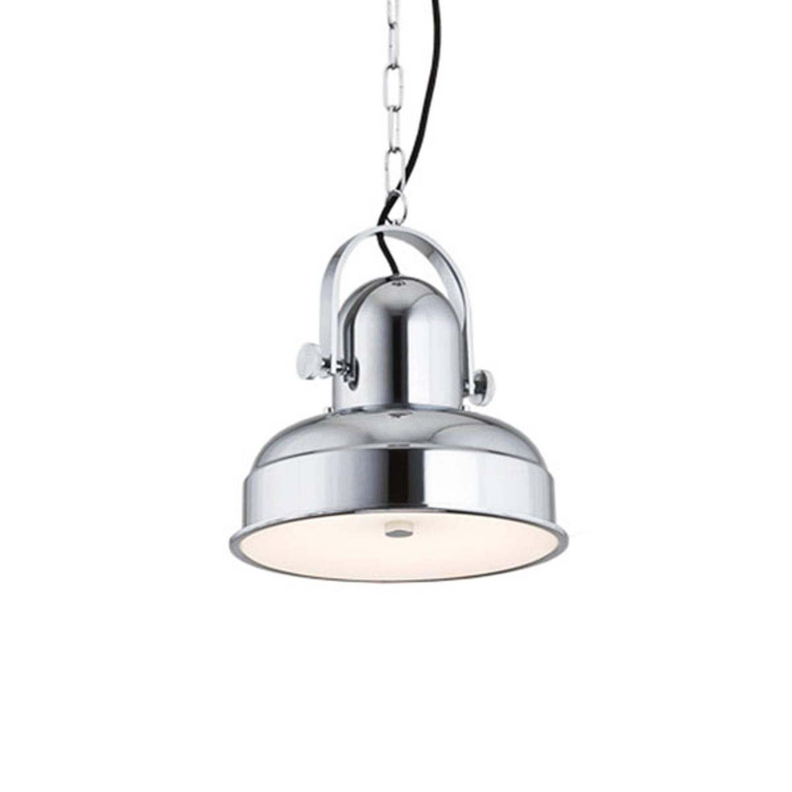 Lampada LED a sospensione Forada, cromo