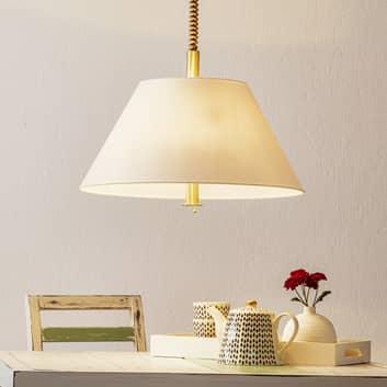 Piękna lampa wisząca Rena, klosz biały