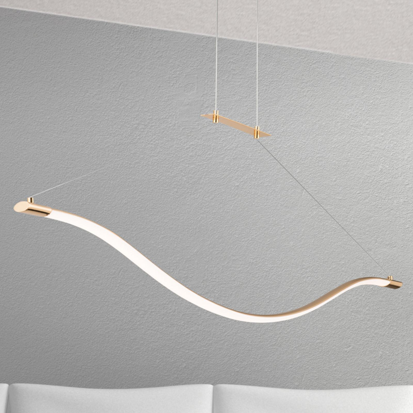 Suspension LED dorée Alen
