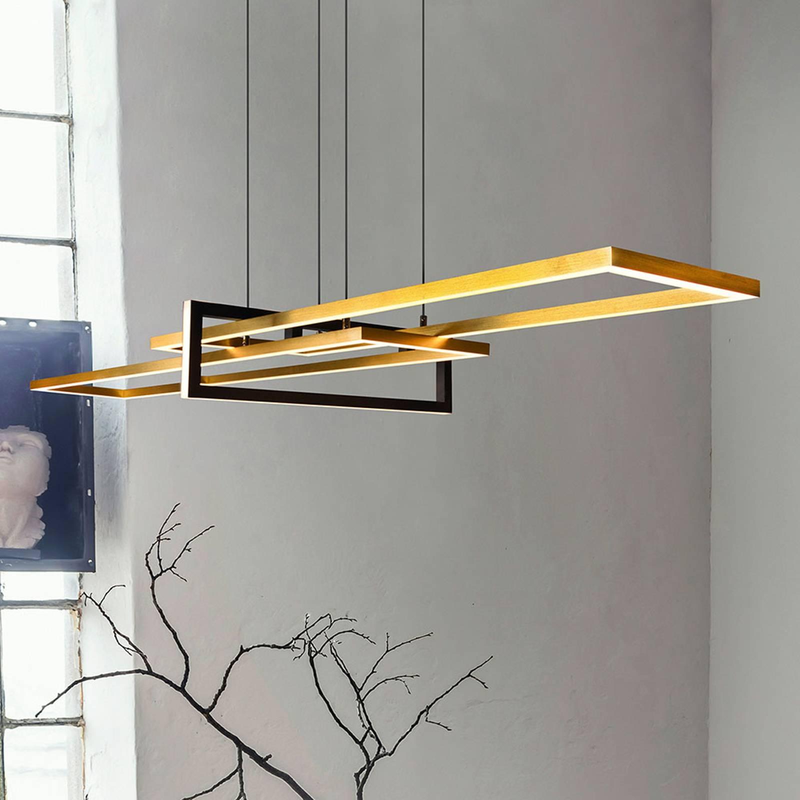 Suspension LED Salinas 3000 K, laiton mat