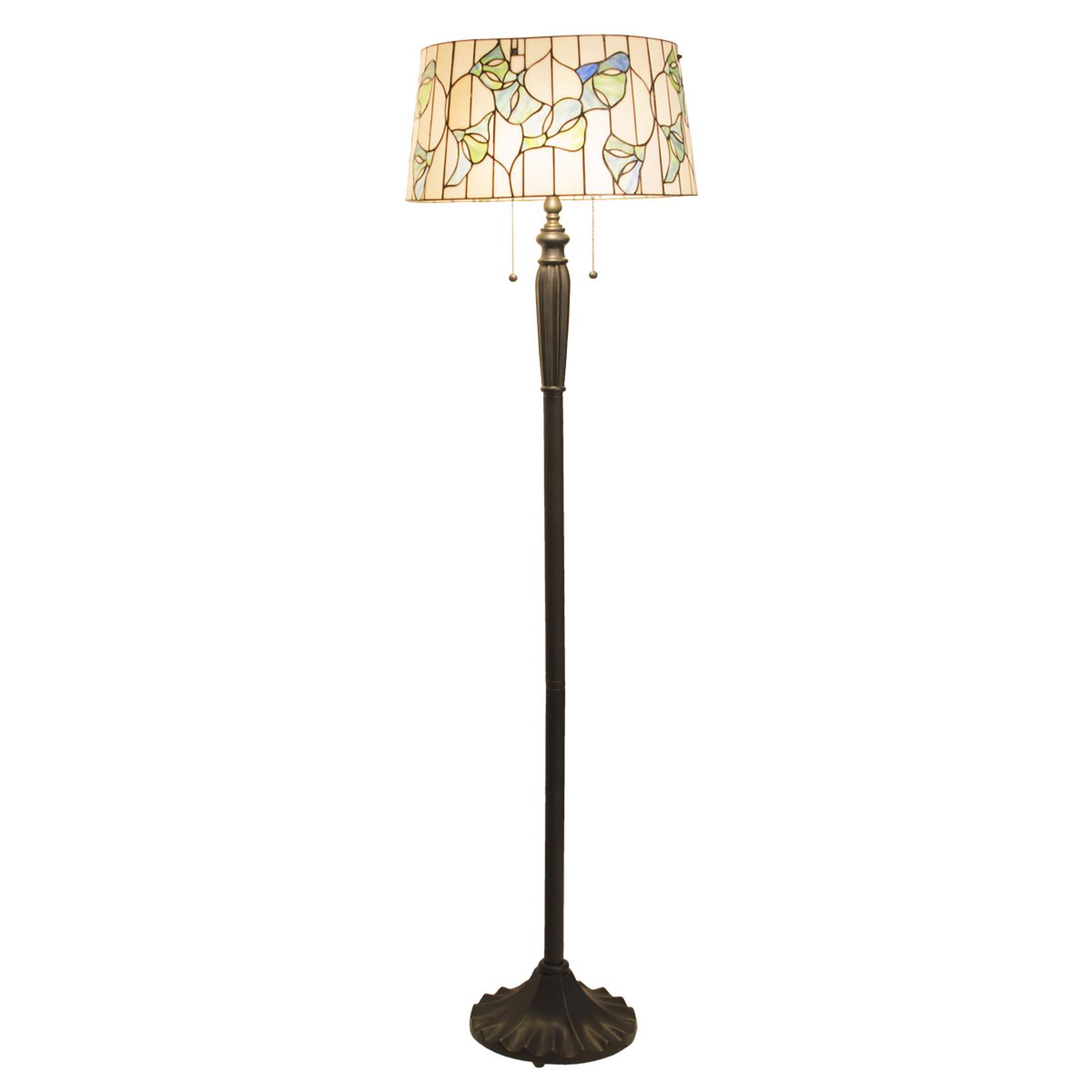 Vloerlamp 5944 met cilinderkap, Tiffany-stijl