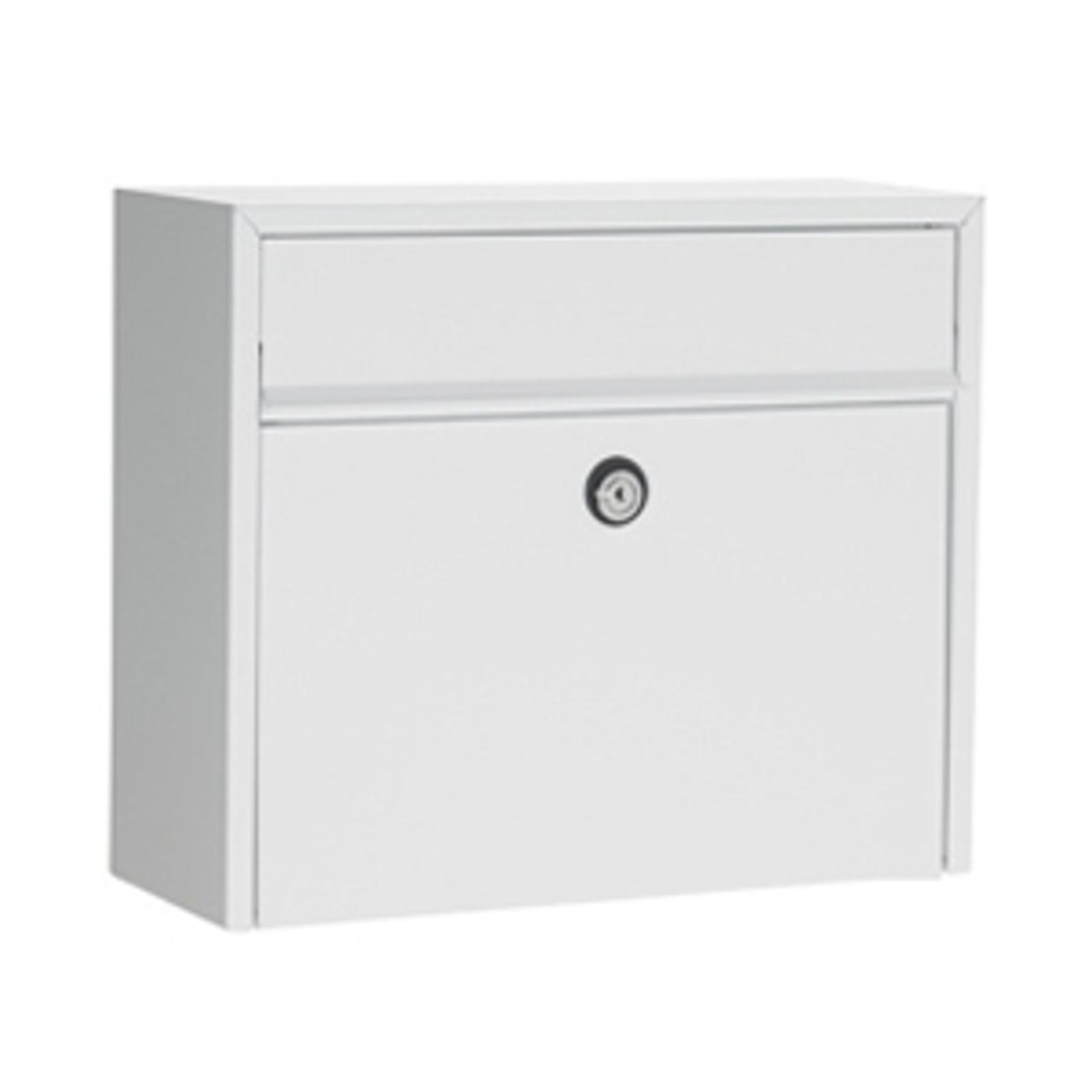 Eenvoudige brievenbus LT150, wit, Euro
