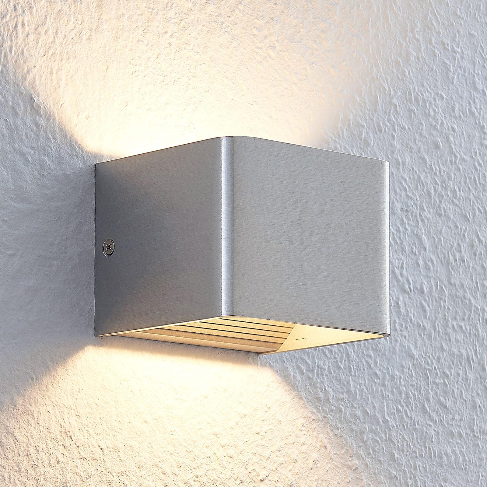 LED-Wandleuchte Lonisa, nickel, 10 cm