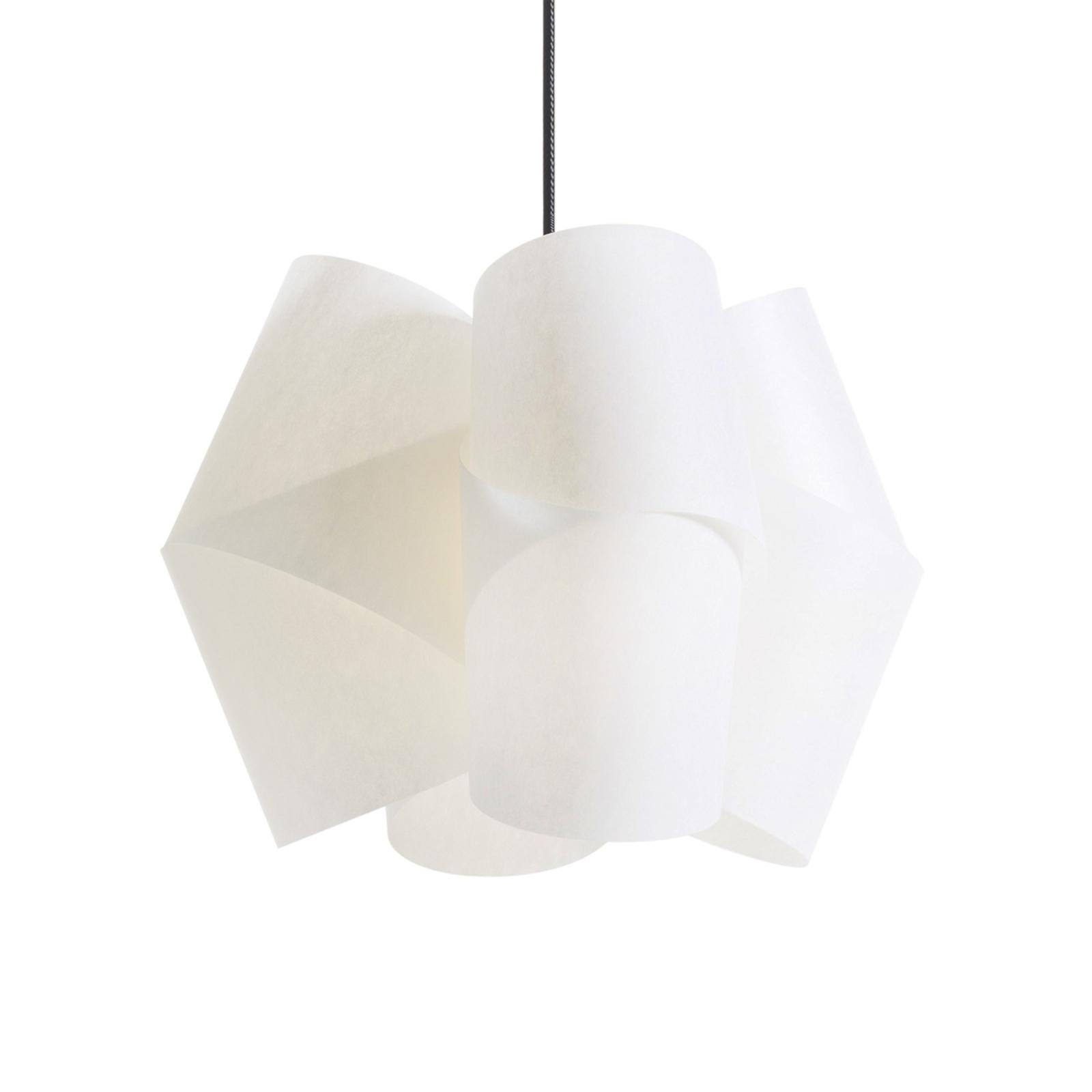 Lámpara colgante Julii, blanco-antracita, Ø 36 cm