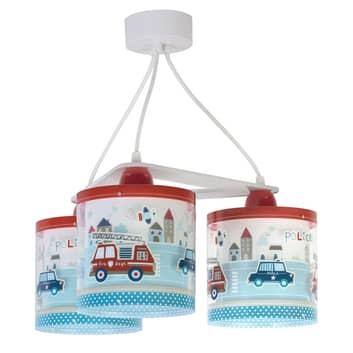 Suspension pour enfants Police, à 3 lampes