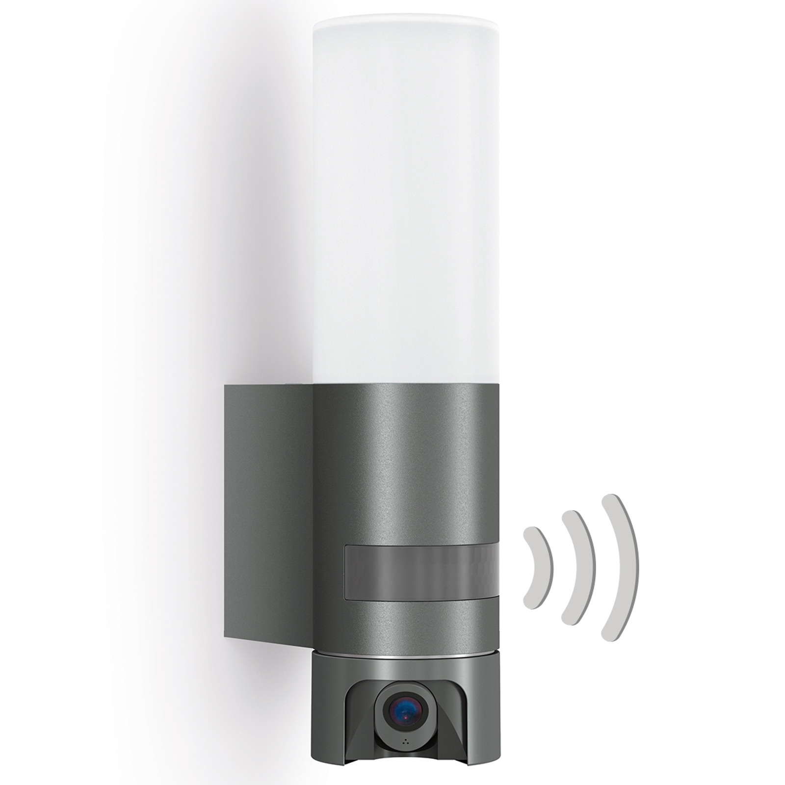 Sensor-LED-Außenwandleuchte L 620 Cam, anthrazit