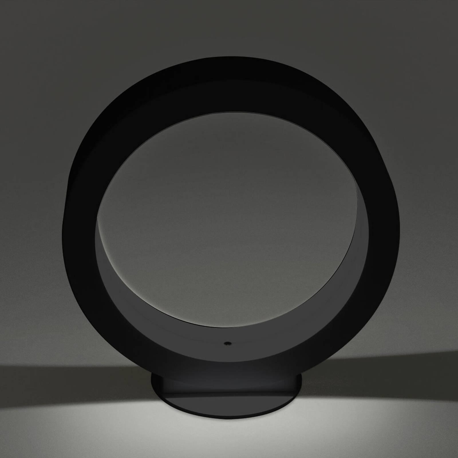 Lampada da tavolo LED Assolo nera dimmerabile