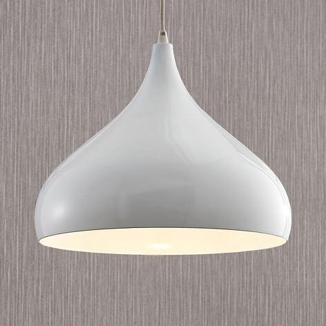 Aluminiumspendellampe Ritana, hvit