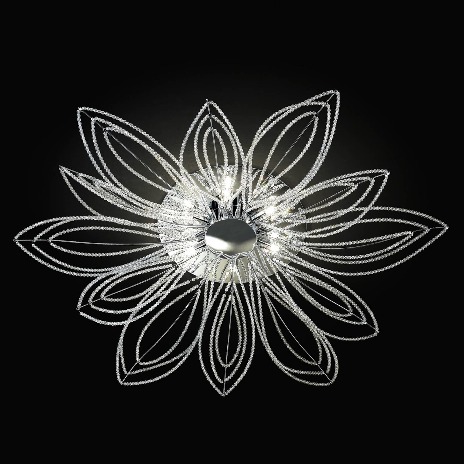 Deckenleuchte Girasole in Blütenform, 98 cm