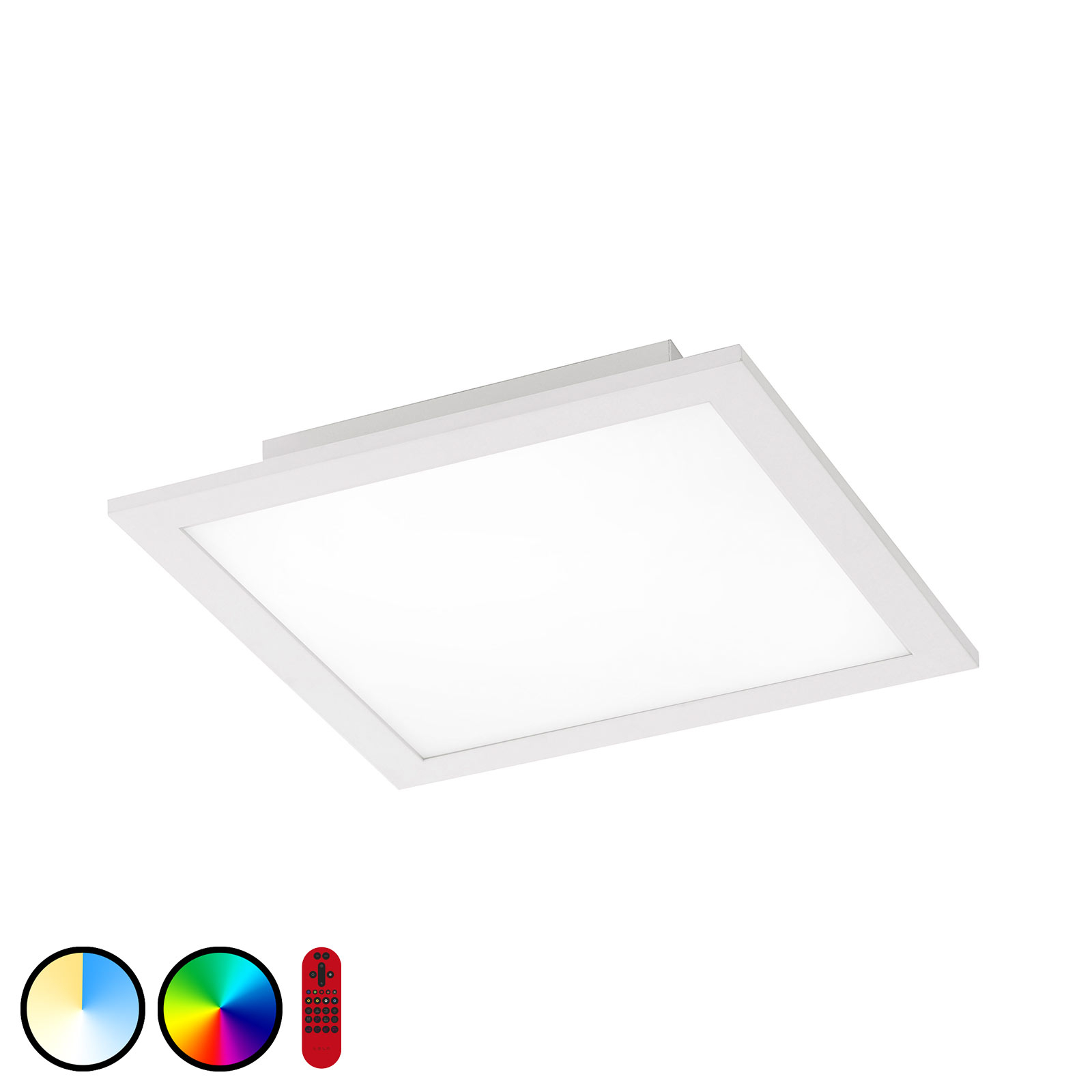 Lampa sufitowa LED LOLAsmart Flat, 30 x 30 cm