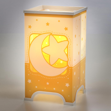 Fluorescerende bordlampe Stars i oransje