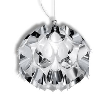 Förtrollande hänglampa Flora i silver, 36 cm
