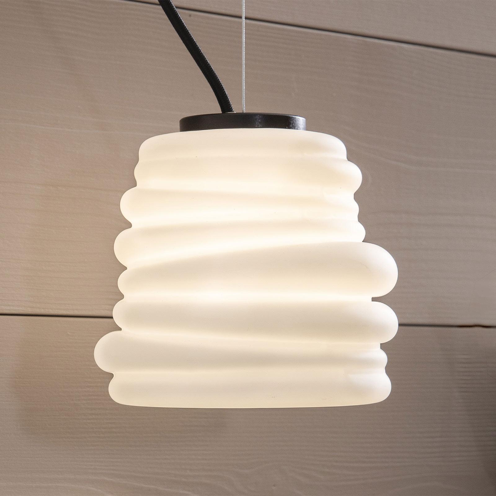 Karman Bibendum suspension LED, Ø 15cm, blanche