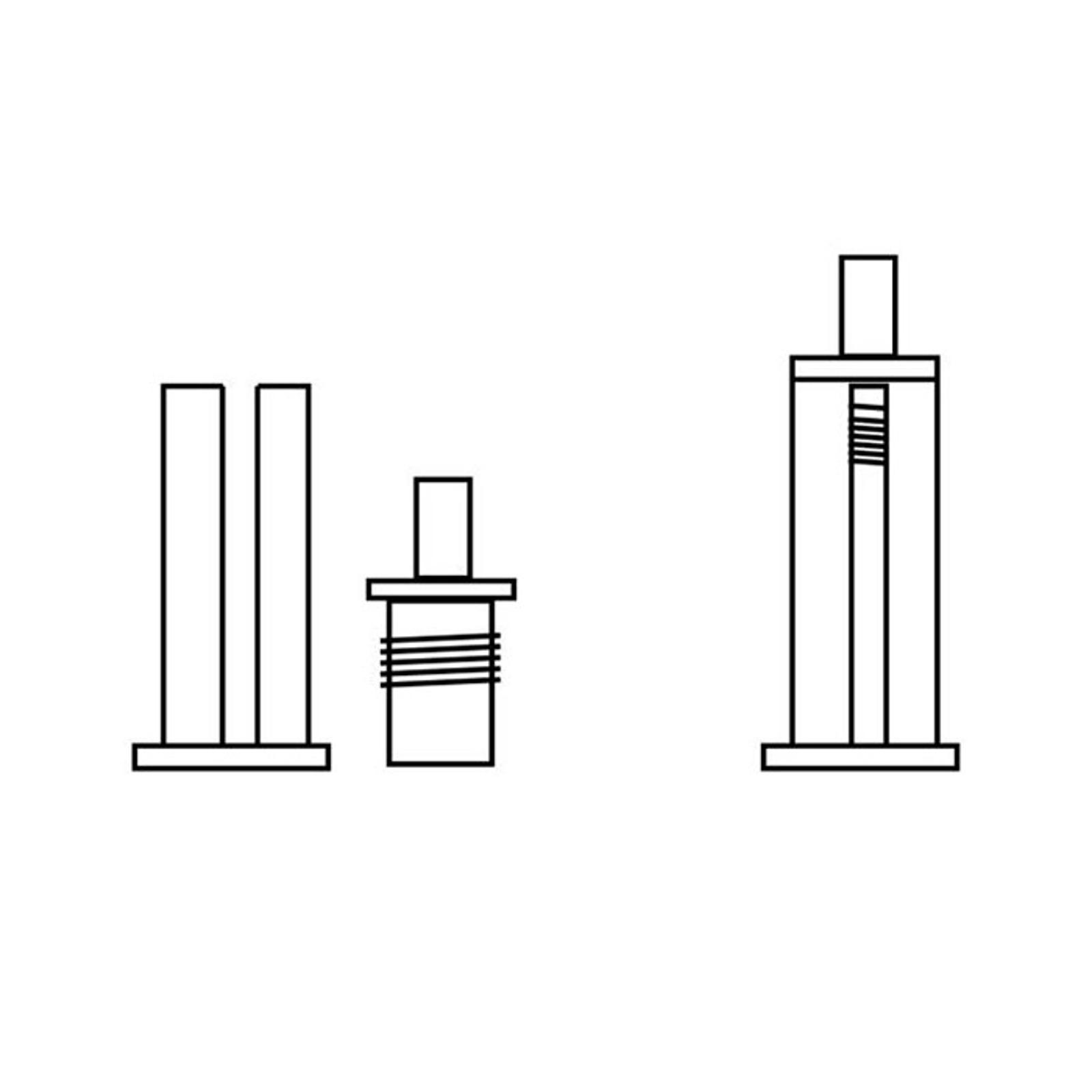 Set fissaggio soffitto binario trifase, nichel