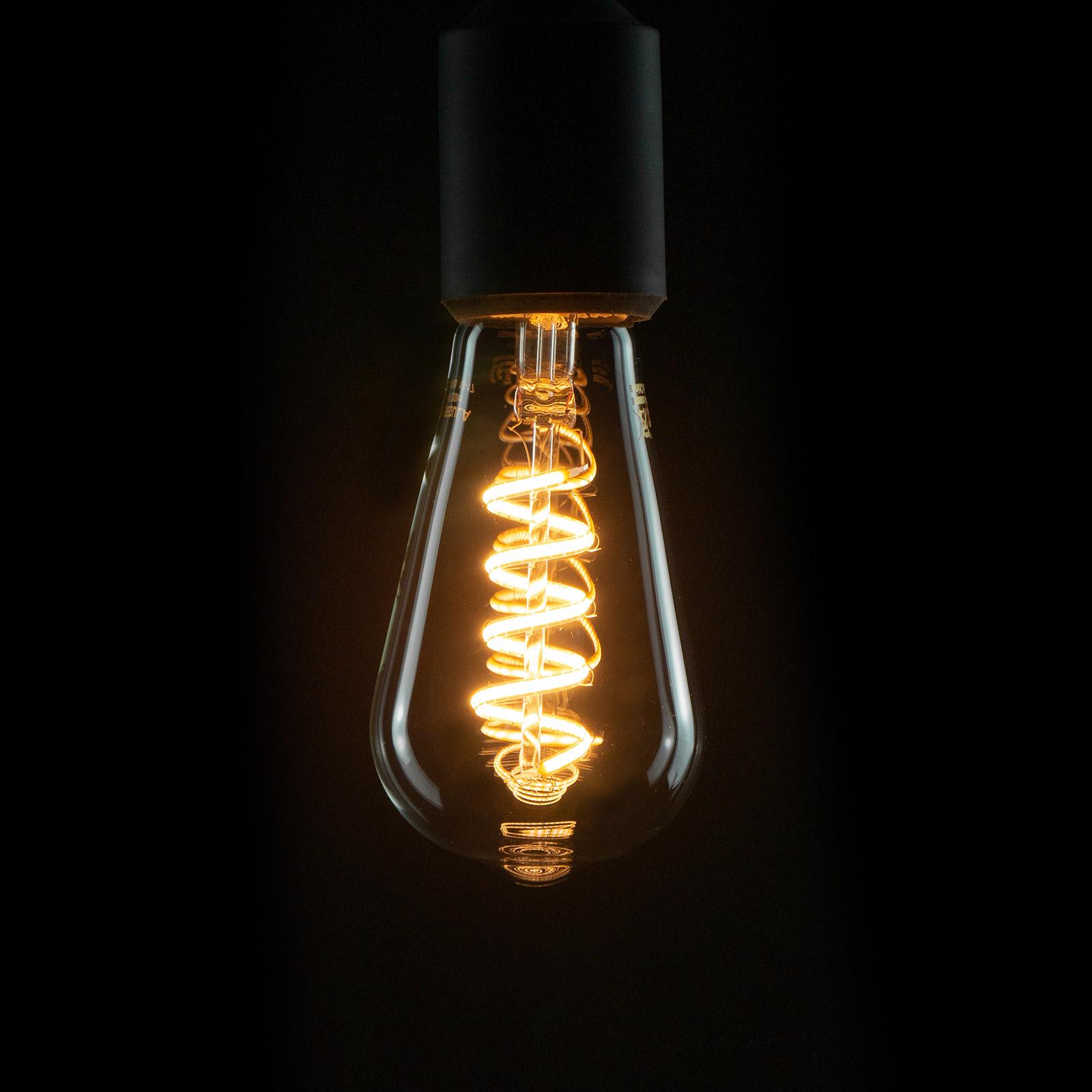 E27 6W 922 LED-Rustika Curved Line klar