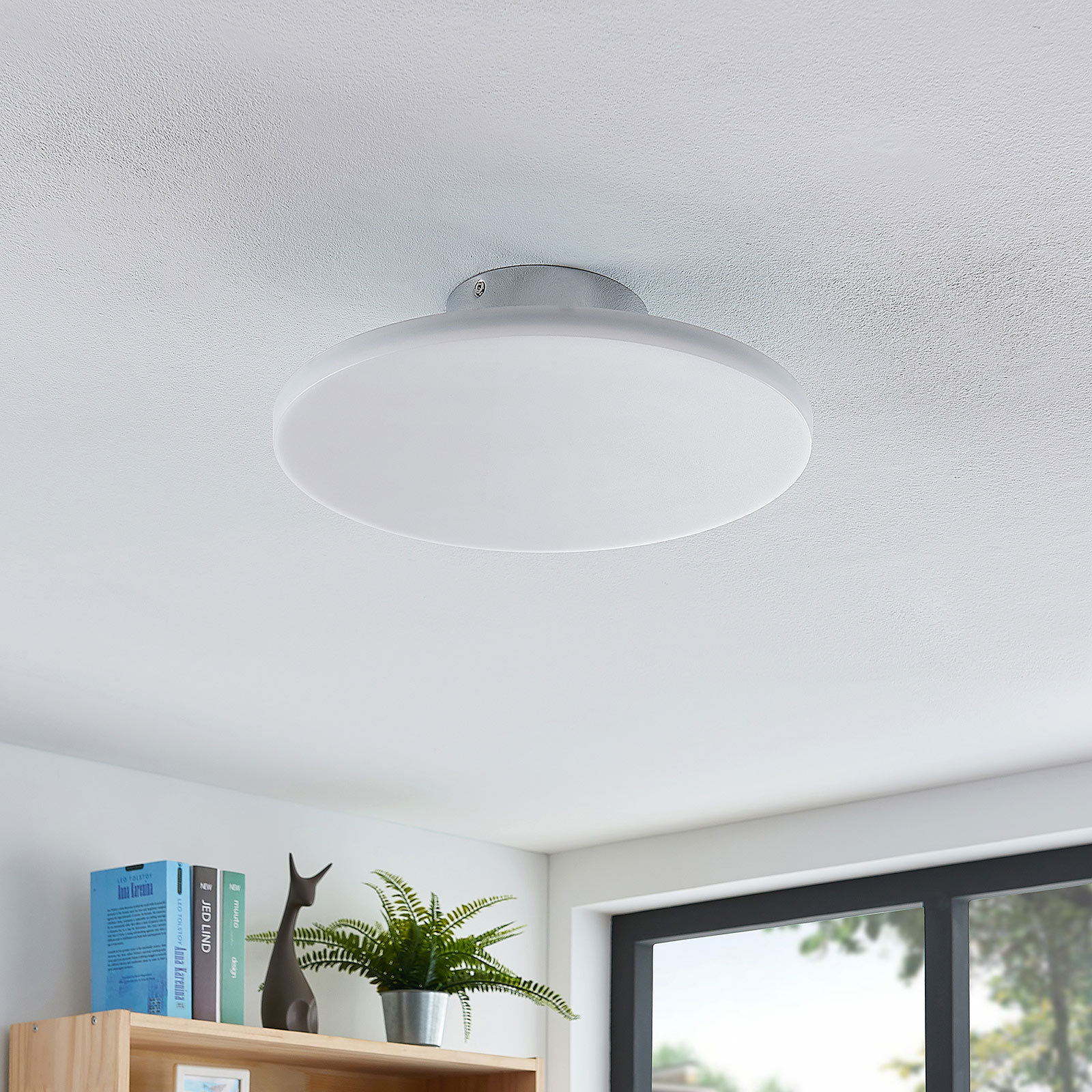 LED plafondlamp Sherko, rond, 1-lamp