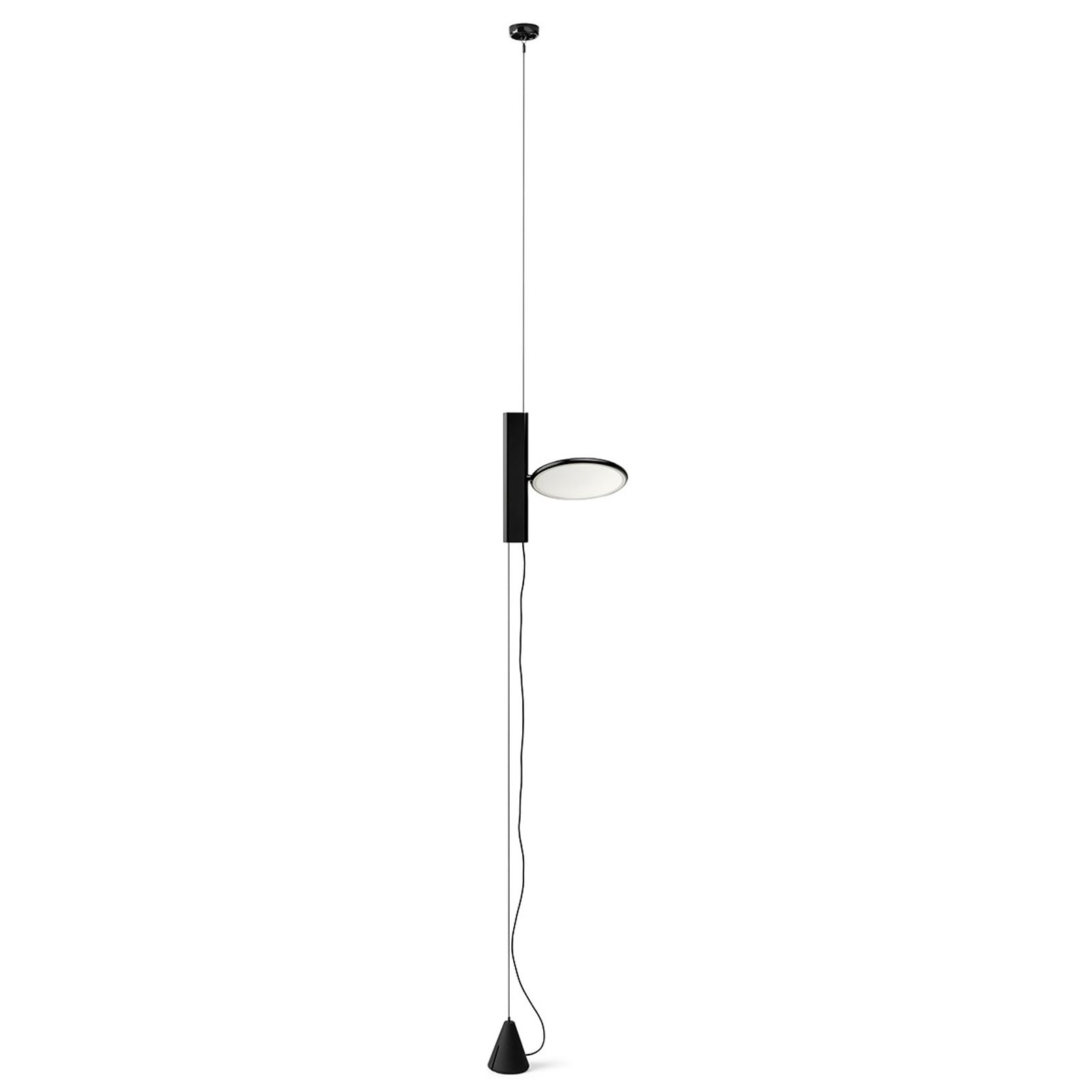 FLOS OK - stehende LED-Hängeleuchte in Schwarz