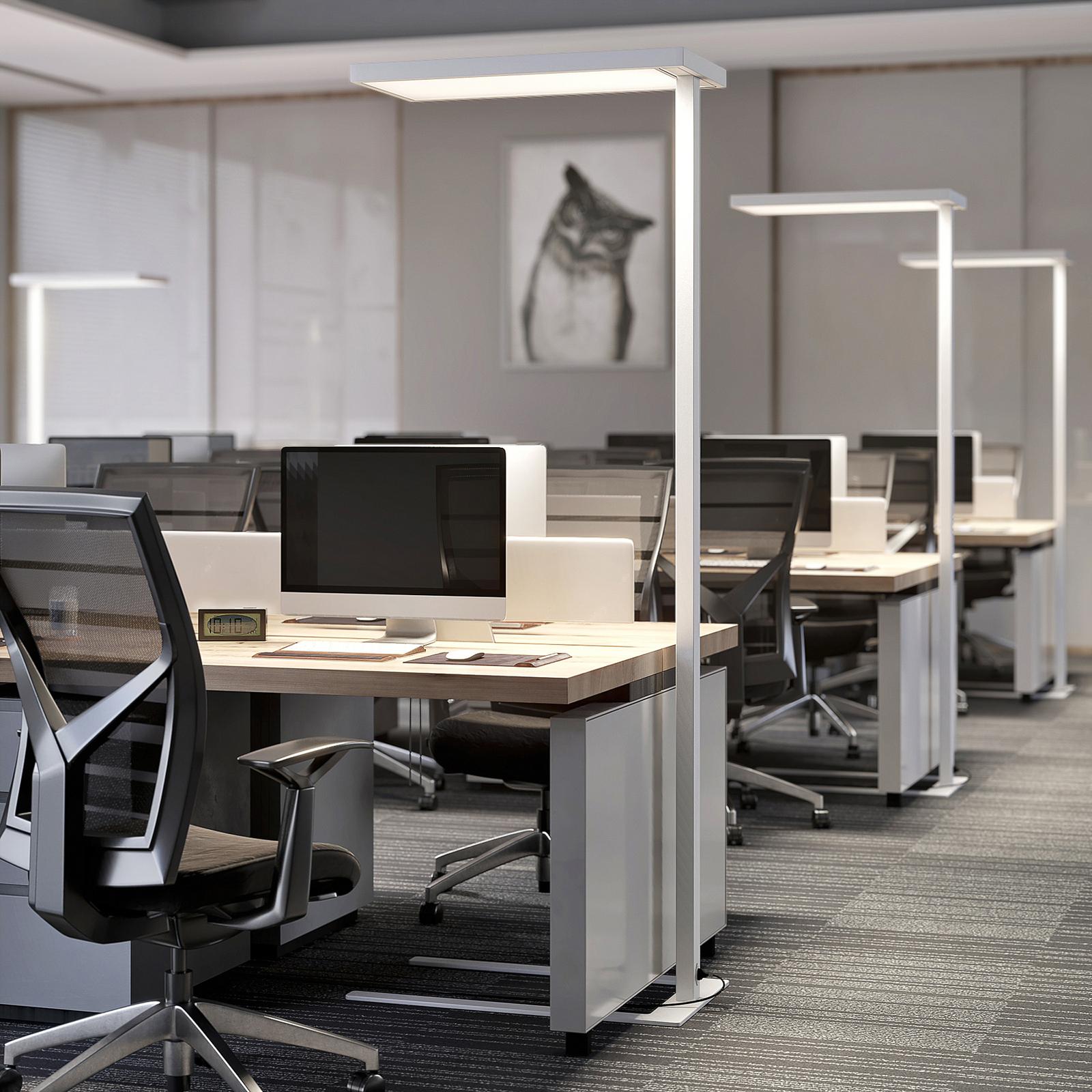 LED-Büro-Stehlampe Somidia mit Dimmer, weiß