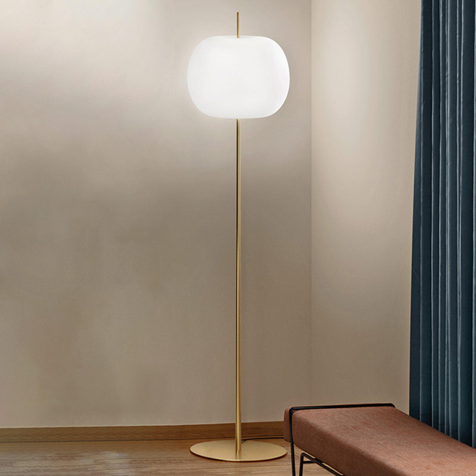 Kundalini Kushi XL lampa podłogowa, mosiądz