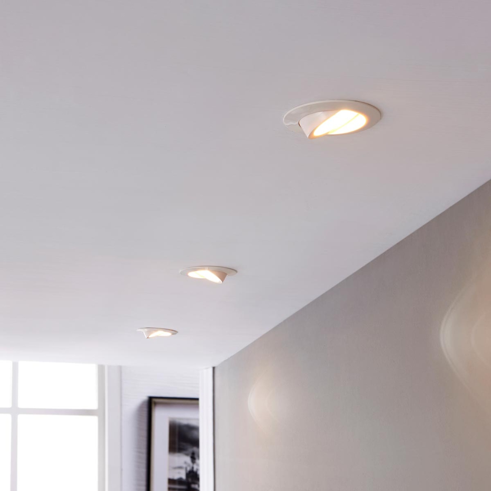 LED downlight Andrej, round, white, set of 3_9620844_1