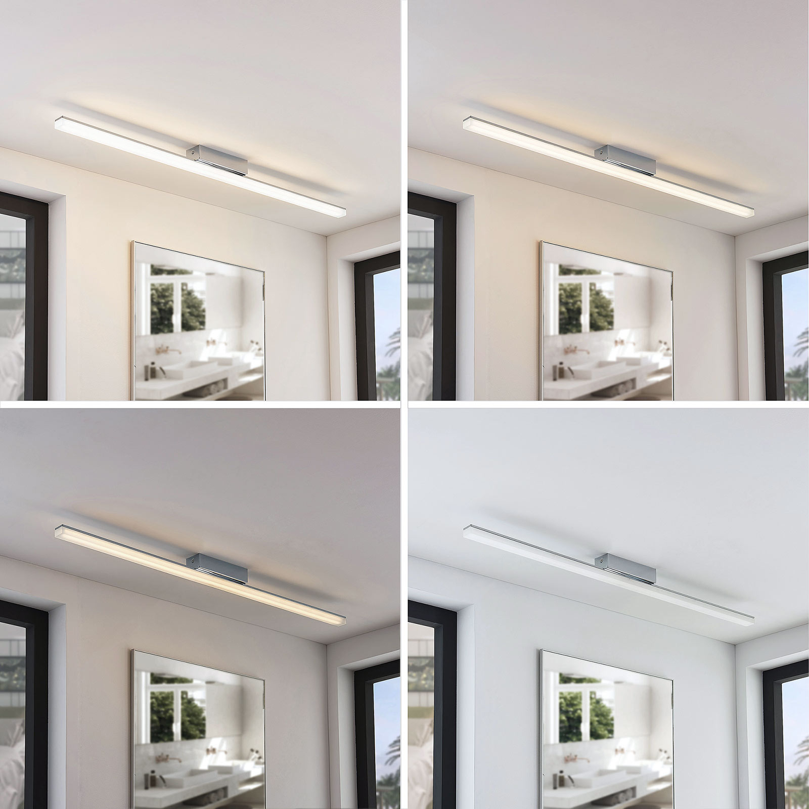 Avlang LED-taklampe Levke, IP44