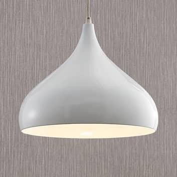 Pendellampe Ritana af aluminium, hvid