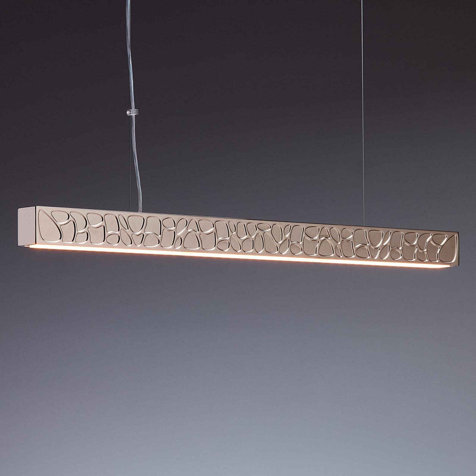 TECNOLUMEN Theia LED-Pendelleuchte dimmbar, nickel