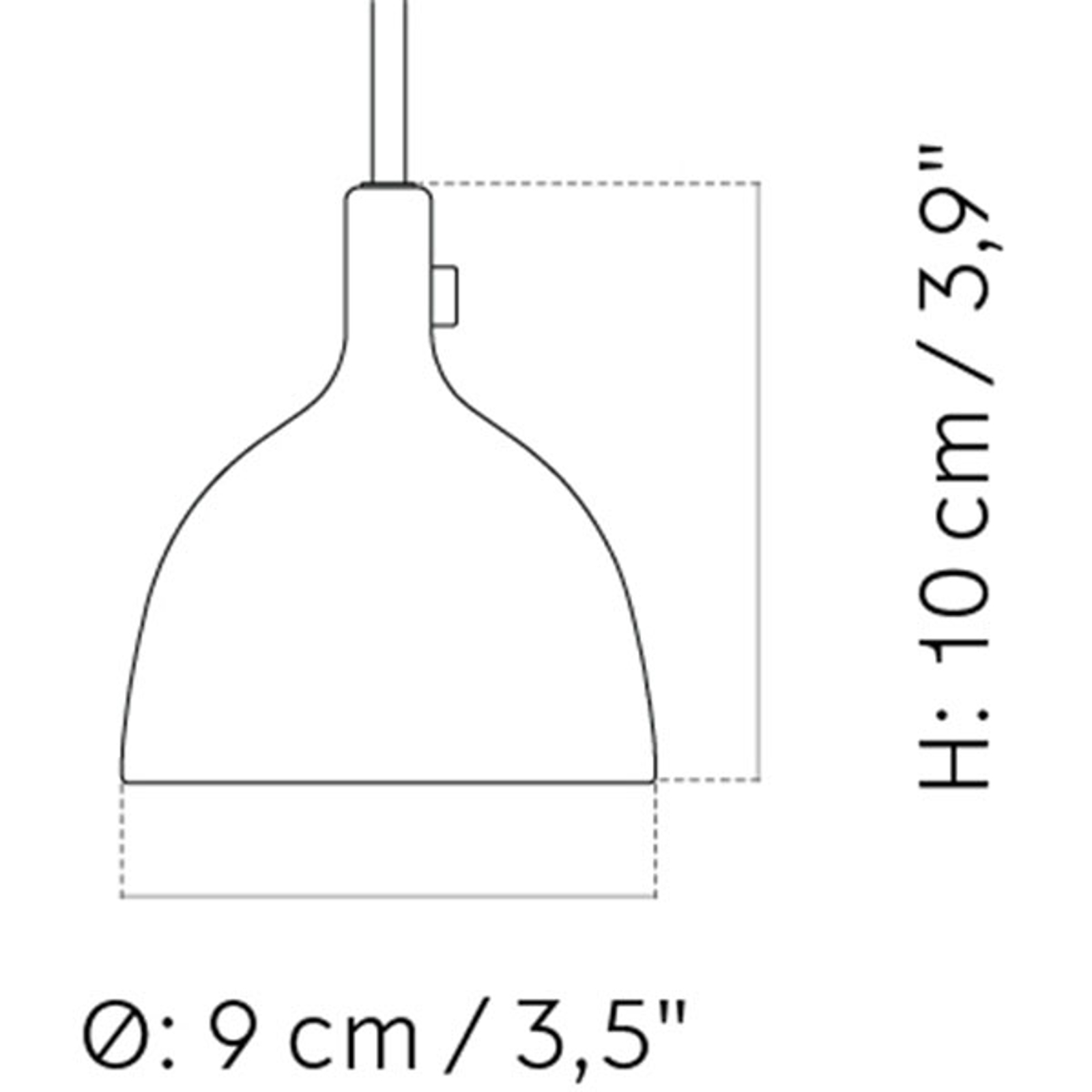 Menu Cast LED hanglamp in zwart, Shape 2