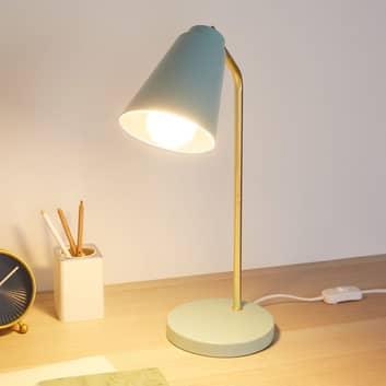Pauleen True Charm bordslampa i ljusblå/guld