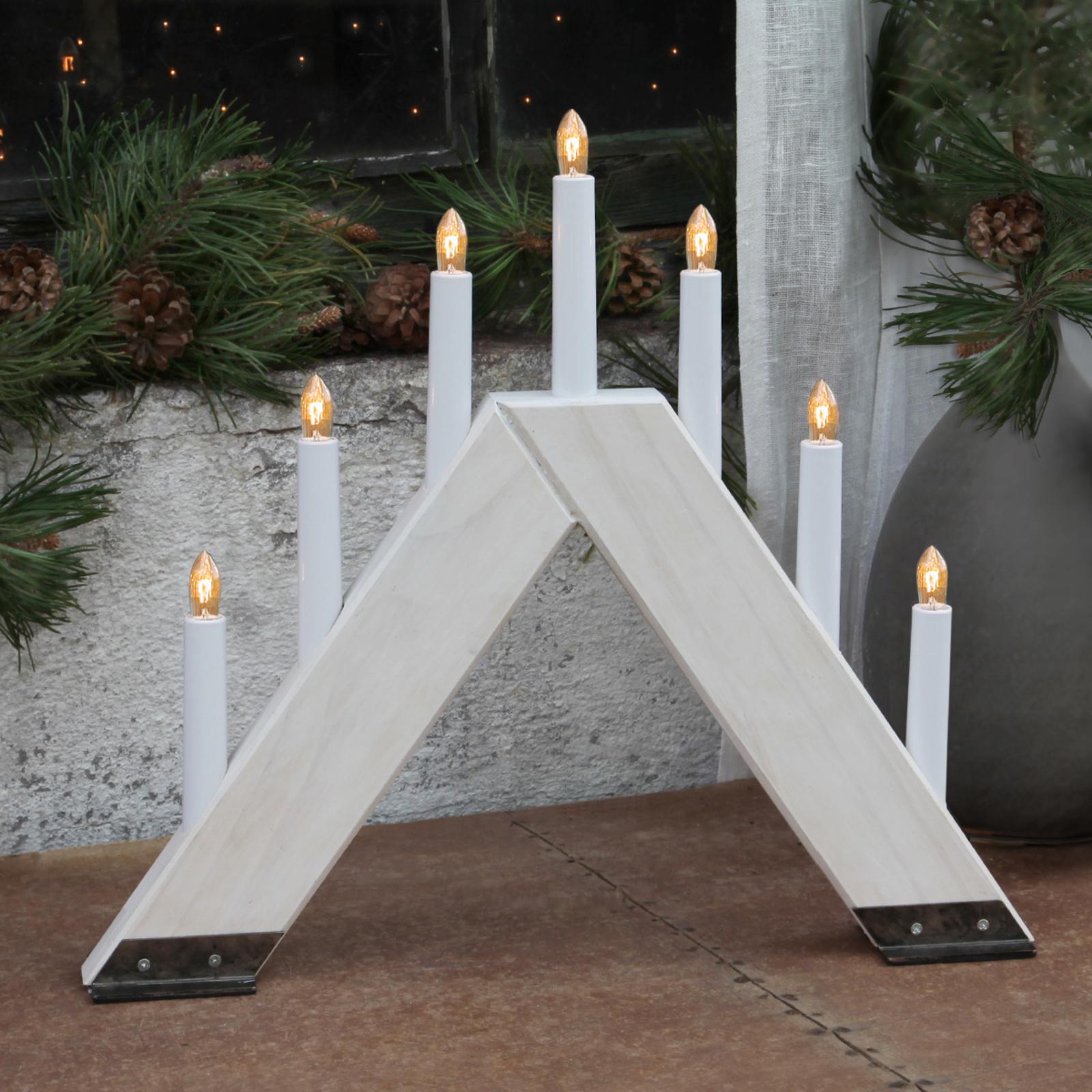 Chandelier Viking au design contemporain blanc