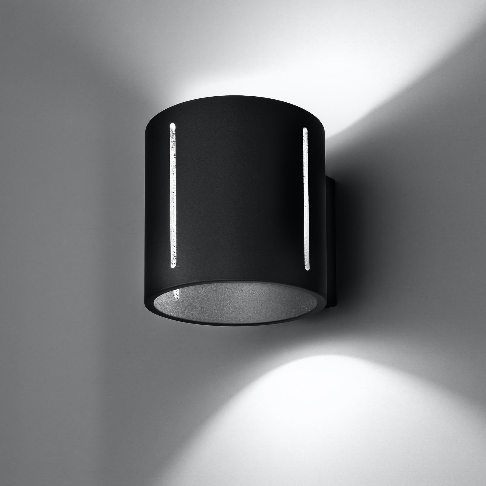 Lampa ścienna Topa up/down, czarny korpus