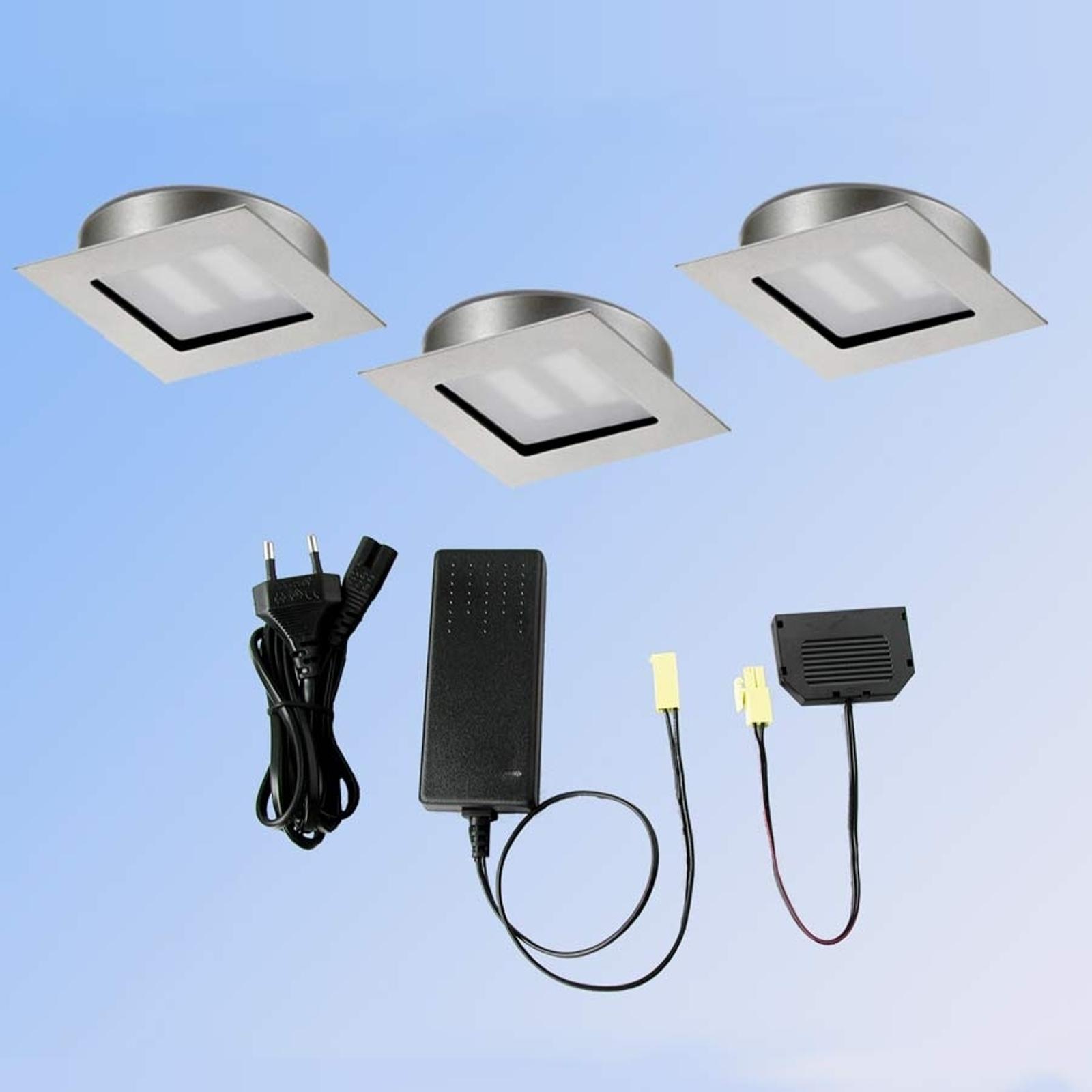 3ks sada Cubic 68 hranaté LED svietidlo 2700K_3025220_1