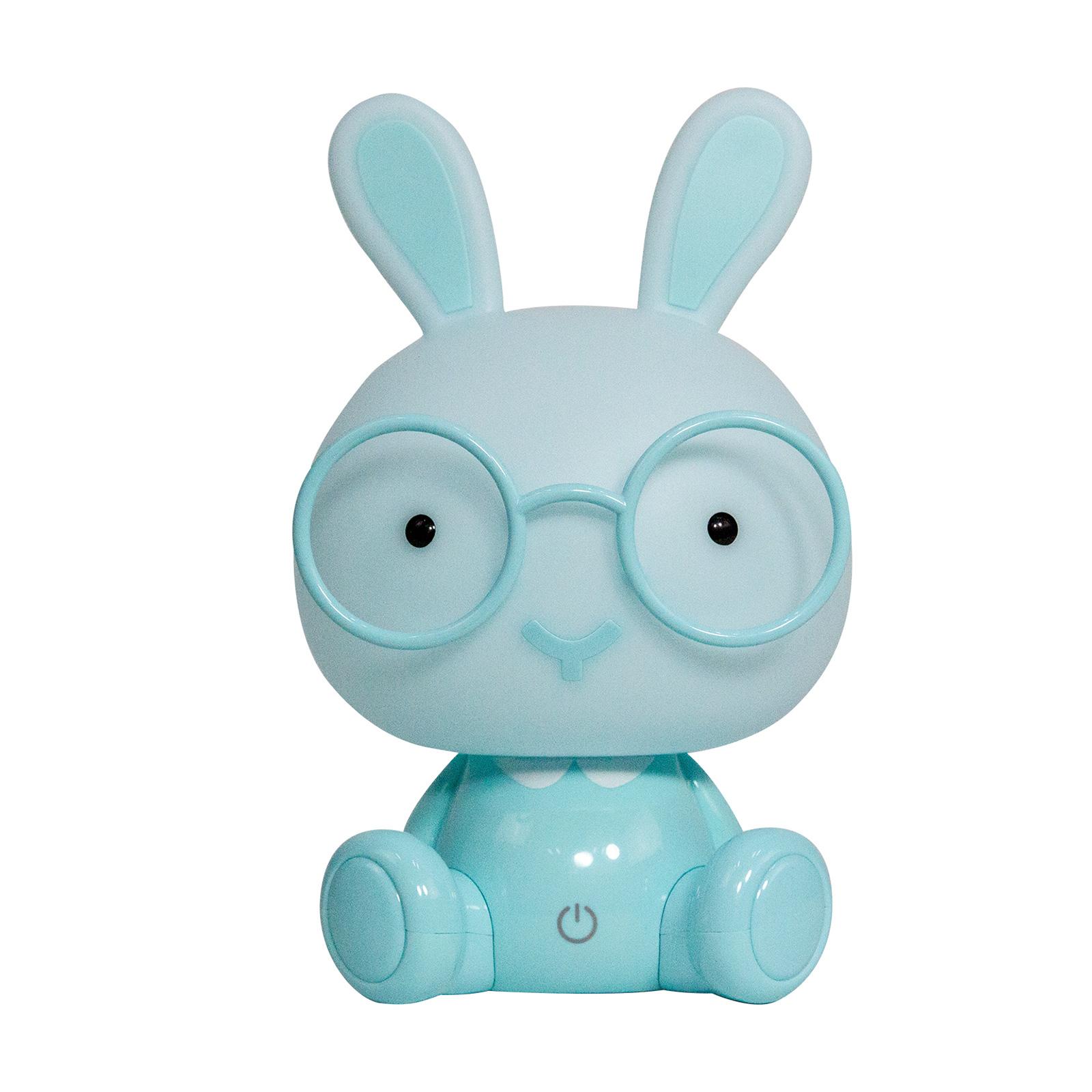 LED-bordslampa Bunny till barnrum, ljusblå