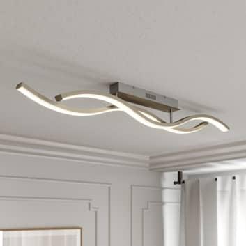 Lucande Mairia plafón LED, ondulado