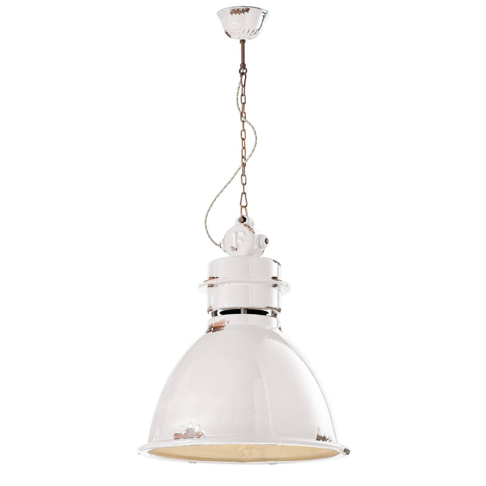 Hanglamp C1750 met keramische kap, wit