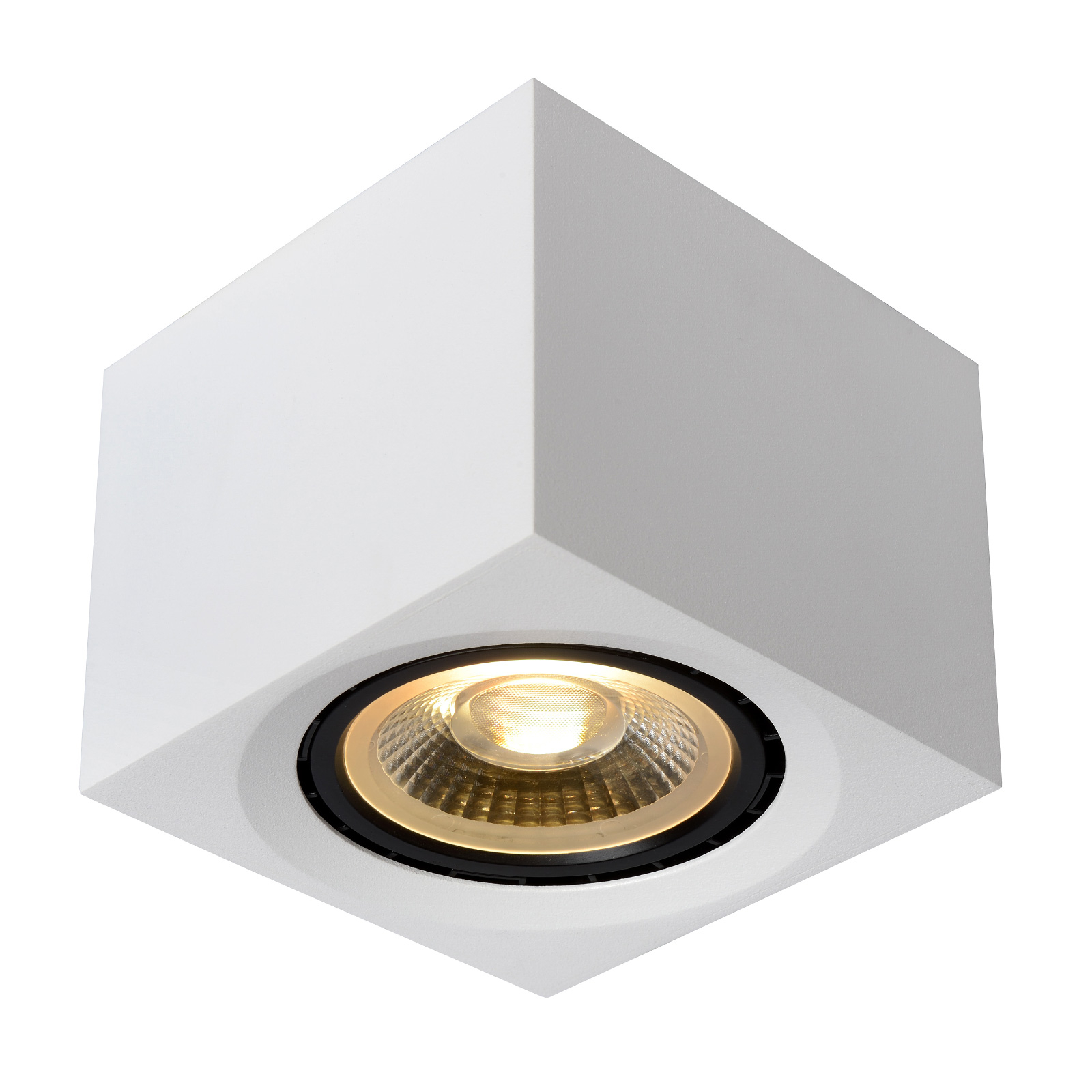 Spot LED soffitto Fedler angolare bianco