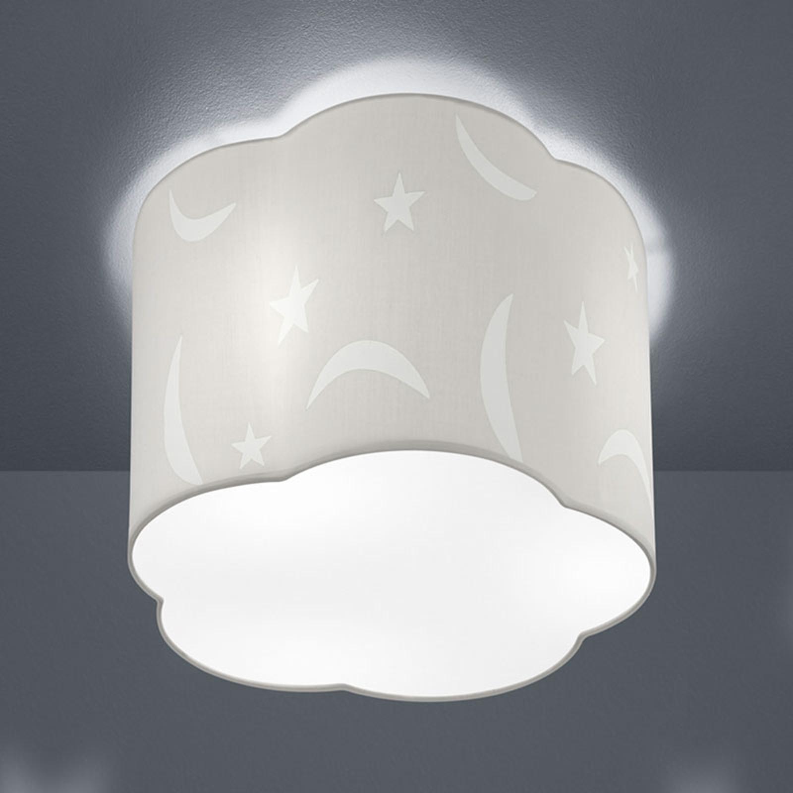 Plafondlamp Moony 25 cm wit