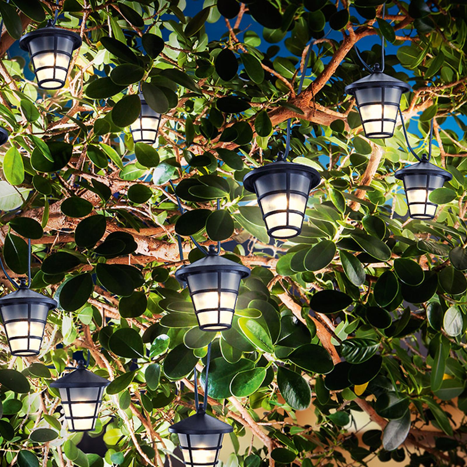 Solar LED-Lichterkette Asia Style