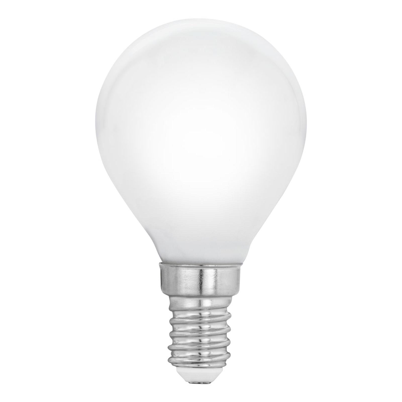 Żarówka LED E14 P45 4W, ciepła biel, matowa